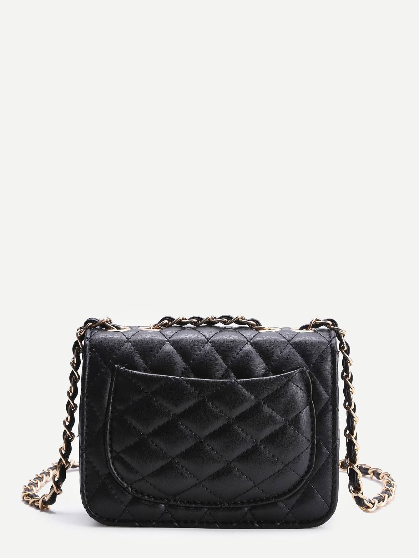 حقيبة نسوية أزياء سوداء مع السلسة-6