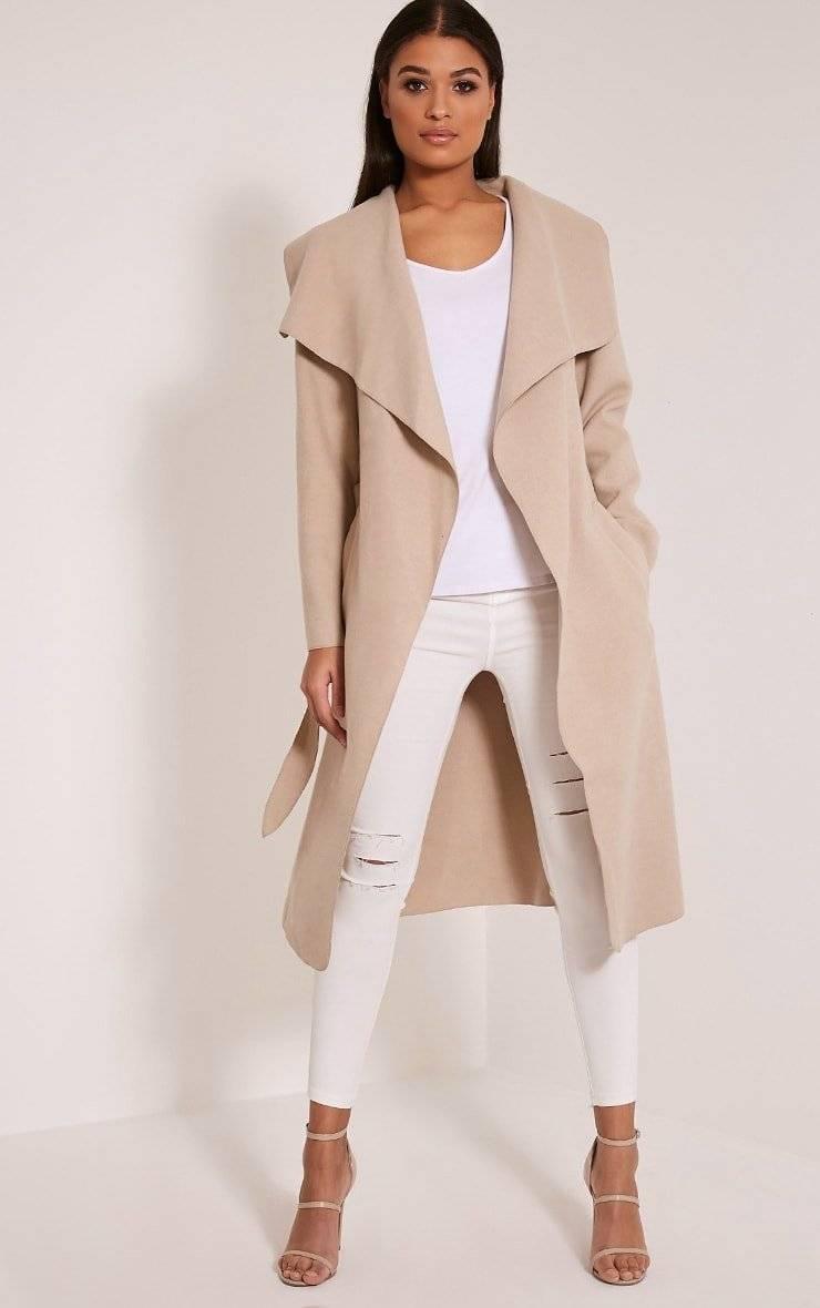 معطف متوسط الطول-1