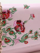 Leather bag with floral pattern-3
