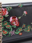 Leather bag with floral pattern-8