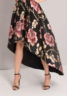 فستان أسود ميدي مشجر ورود تشي تشي لندن-2