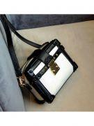 Black shoulder bag in white-8