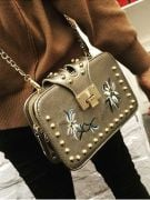 A white handbag-1