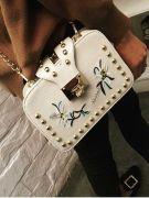 A white handbag-7