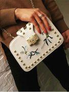 A white handbag-8