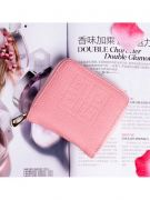 Pink purse with closure closure-1