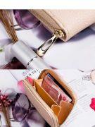 Pink purse with closure closure-8