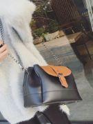 Large shoulder bag with long metal hand-5