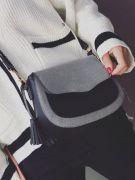 Shoulder bag with separate hand-2