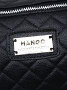 Mango black leather-2