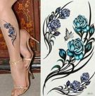 The tattoos are colored in a rose pattern-1