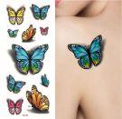 Tatoo colored butterflies-3
