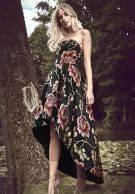 فستان أسود ميدي مشجر ورود تشي تشي لندن-3