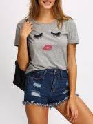 Casual T-Shirt Gray Short Sleeve-2