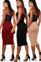 Medium-length tight skirt-3