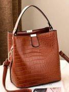 Oil crocodile leather bag-12