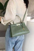 حقيبة جلديه انيقة متوسطة الحجم-4