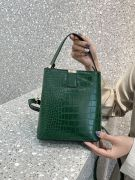 Oil crocodile leather bag-3