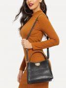 Snake leather bag-3