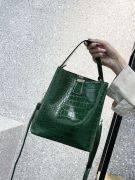 Oil crocodile leather bag-4