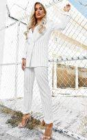 Striped white trousers-2