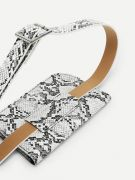 Snake leather bag with waist belt-5