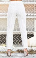Striped white trousers-3
