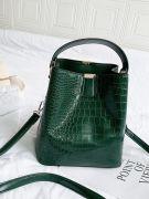 Oil crocodile leather bag-2