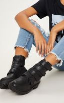 Velcro Boot Boots with Straps-5