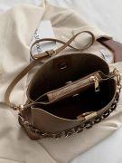 حقيبة كتف كاكي بسلسلة-4
