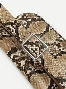 Snake leather bag with waist belt-9