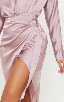 فستان ساتان ميدي-8