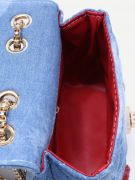 A bag with a chain of blue denim-4