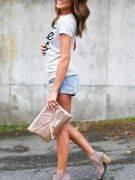 Gray Short Sleeve T-Shirt-2