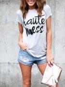 Gray Short Sleeve T-Shirt-3