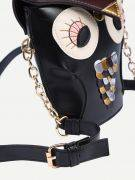 Black owl bag-5
