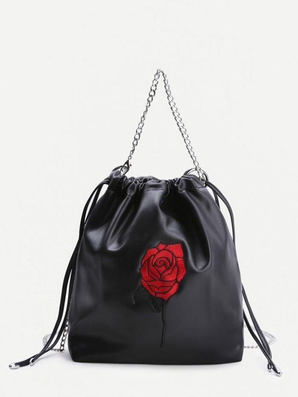Floral bag and medium size black