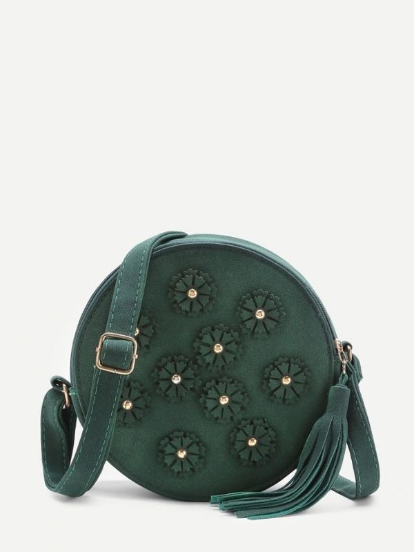 Round bag with elegant purses