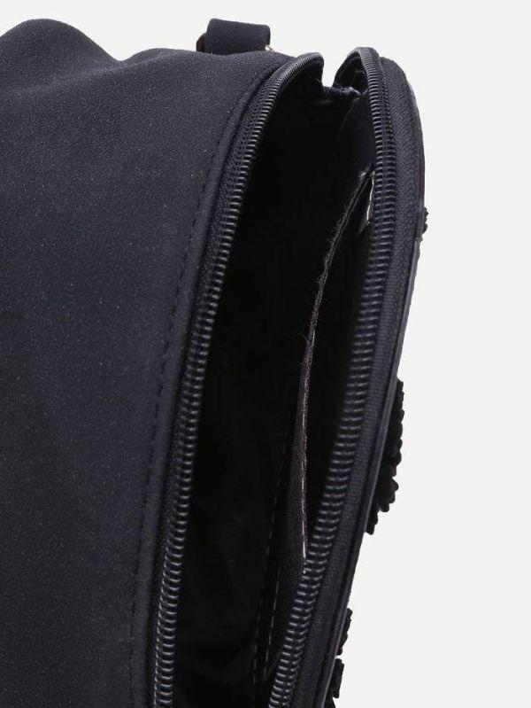 Round bag with elegant purses