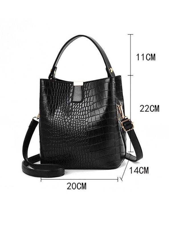 Oil crocodile leather bag