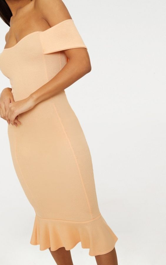 فستان اوف شولدر متوسط الطول-10