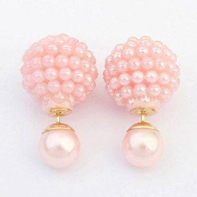 Double Diamond Pearl Earring