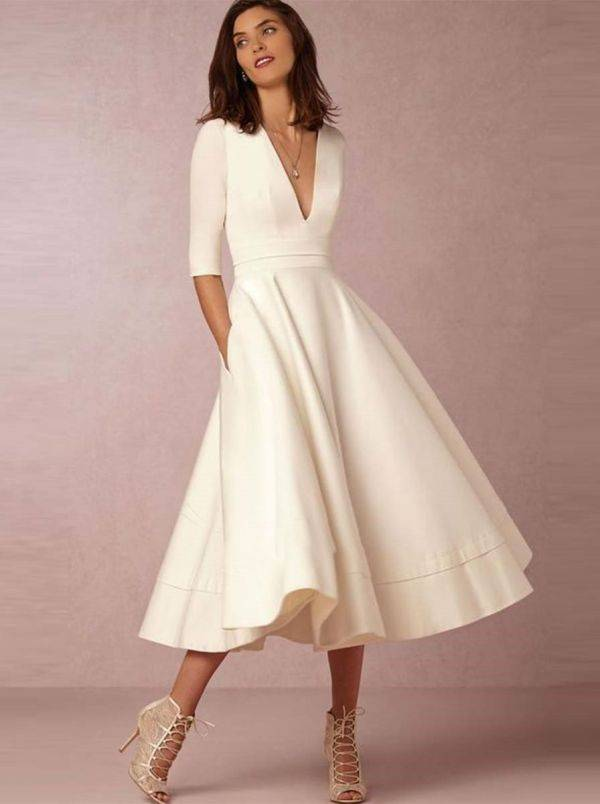 Midi Cream Dress Up