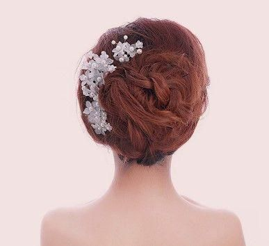 Hair accessories white transparent powder