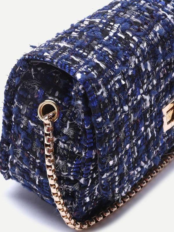 Blue bag inlaid