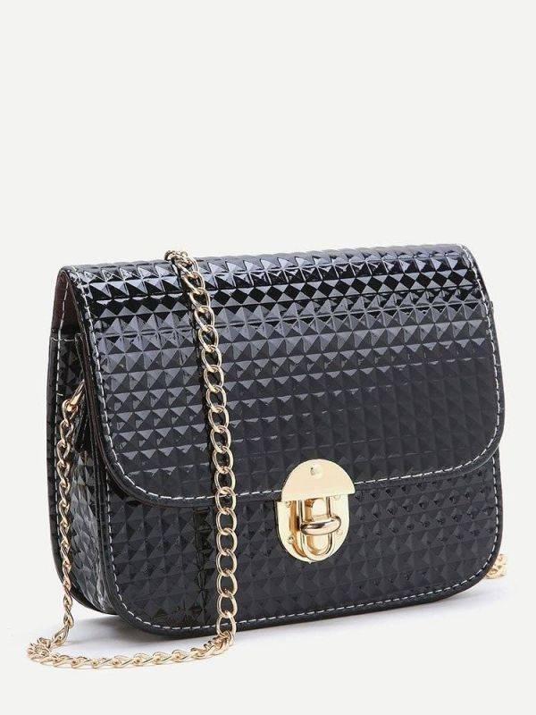 حقيبة السلسلة سوداء