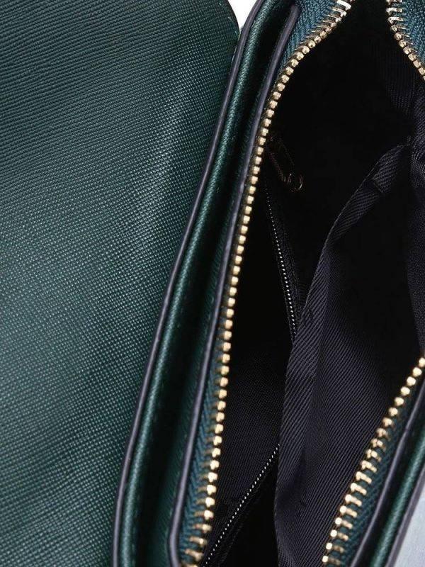Green leather shoulder bag