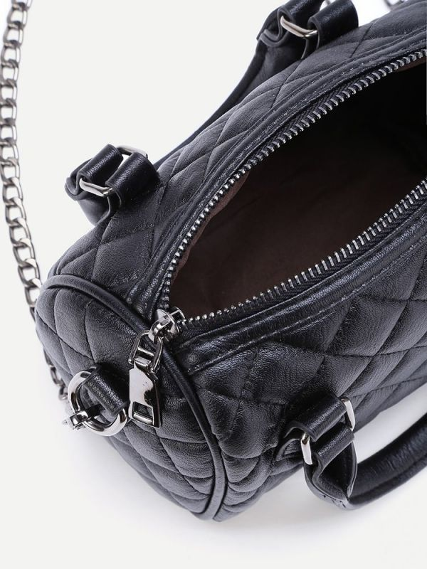 Mini leather fashion bag with fashion chain