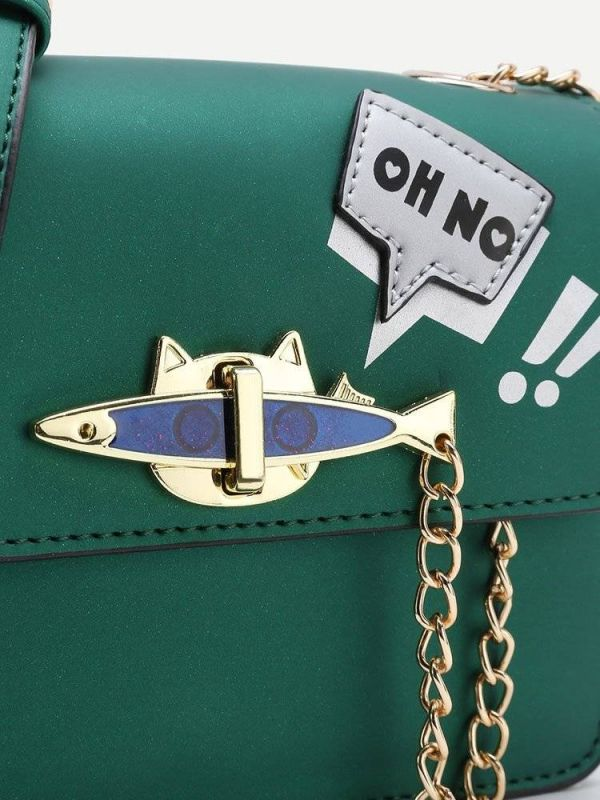 Chain bag in fish and cat shape