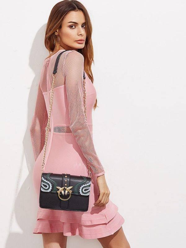 Elegant bag with birds